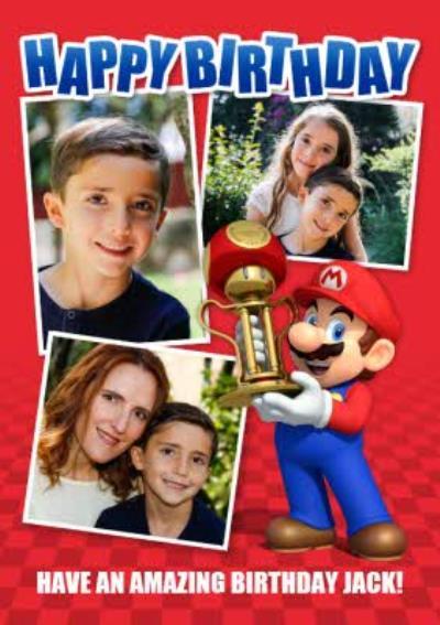 Nintendo Mario Kart Gaming Photo Upload Birthday Card