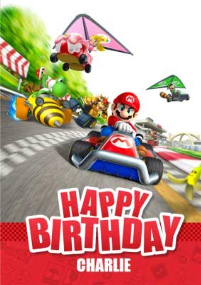 Nintendo Mario Kart Race Gaming Birthday Card