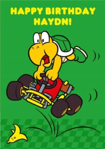 Nintendo Mario Kart Retro Koopa Troopa Birthday Card