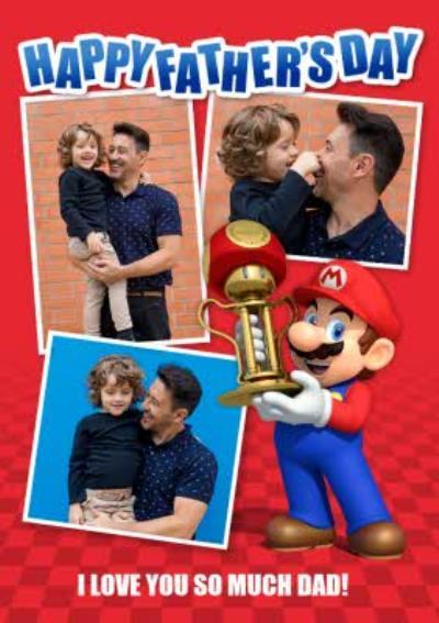 Nintendo Mario Kart Photo Upload Father's Day Card