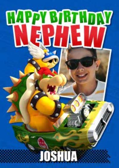 Nintendo Mario Kart Happy Birthday Nephew Photo Upload Birthday Card