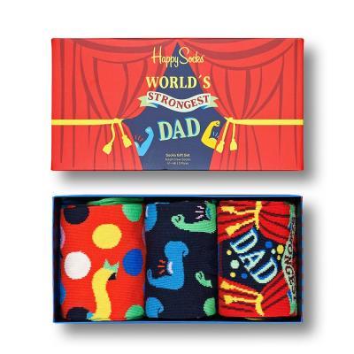 Happy Socks Strongest Dad 3 Pairs Gift Set
