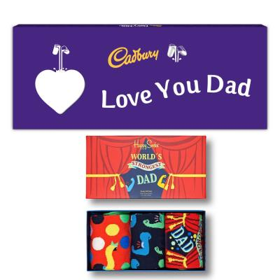 Strongest Dad Socks & Giant Cadbury Bar Gift Set