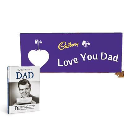 Wit & Wisdom Book & Cadbury Bar Gift Set For Dad