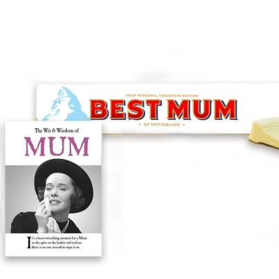 Wit & Wisdom Book & White Toblerone Gift Set For Mum