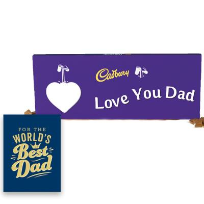 World's Best Dad Book & Cadbury Bar Gift Set