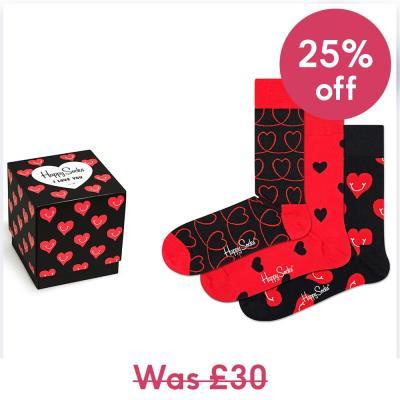 Happy Socks I Love You Heart Sock Gift Box