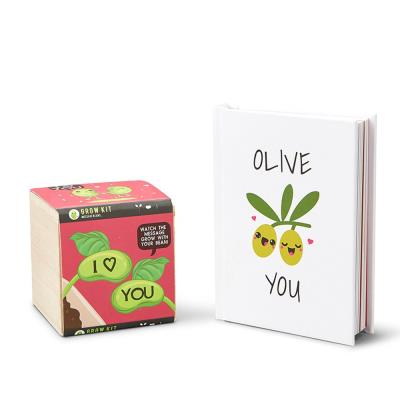 Olive You Book and Bean Plant Gift Set