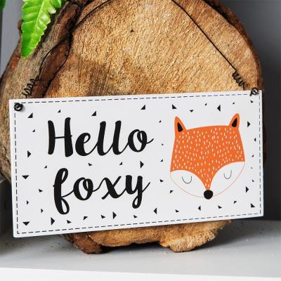 Hello Foxy Plaque