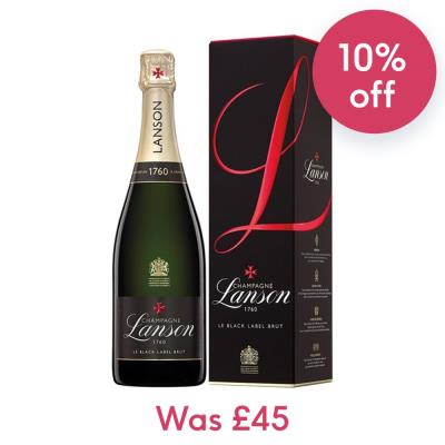 Lanson Black Label 75cl & Exclusive Champagne Stopper