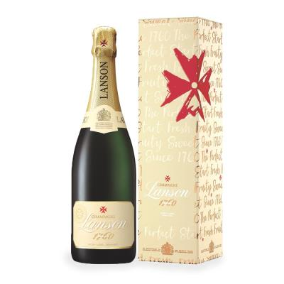 Lanson Ivory Label Champagne 75cl Gift Set