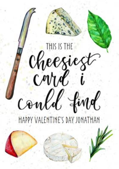 The Cheesiest Card I Could Find Happy Funny Valentine's Day Card