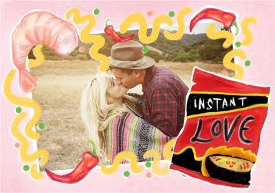 Instant Love Noodles Photo Upload Card