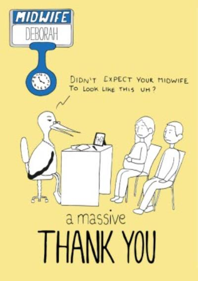 Funny Thank You Card for the Midwife