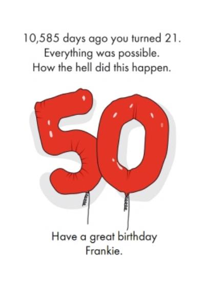 Objectables Funny 50th Birthday Card