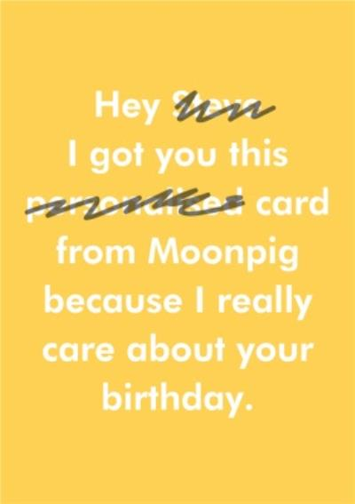 Objectables Funny I really Care Personalised Birthday Card