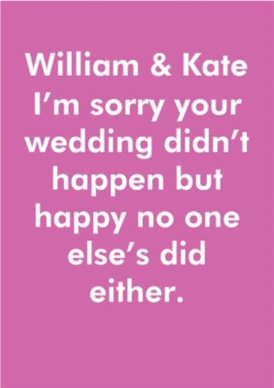 Objectables Wedding Didn't Happen Funny Card