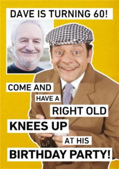 Only Fools And Horses Photo Upload Birthday Party Invitation