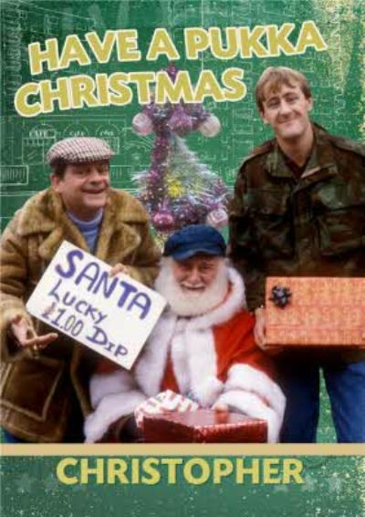 Only Fools And Horses Santa Lucky Dip Personalised Happy Christmas Card
