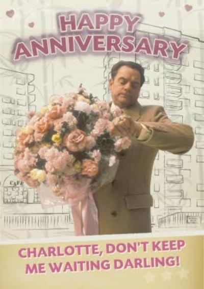 Huge Floral Bouquet Don't Keep Me Waiting Happy Anniversary Card