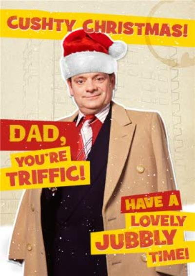 Only Fools And Horses Cushty Christmas Card