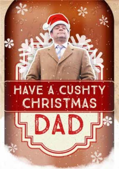 Only Fools And Horses Dad Cushty Christmas Card