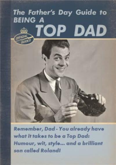 Retro Guide To Being A Top Dad Personalised Father's Day Card