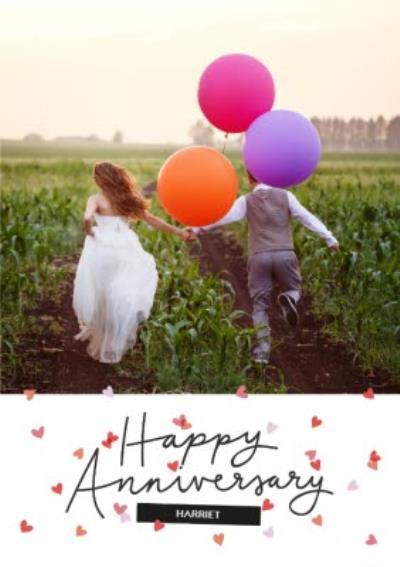 Oh Cheers Anniversary Photo Upload Card
