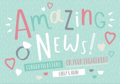 Oh Happy Day Amazing News Personalise Text Card