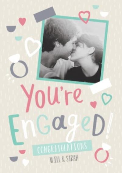 Personalised Youre Engaged! Congratulations Card