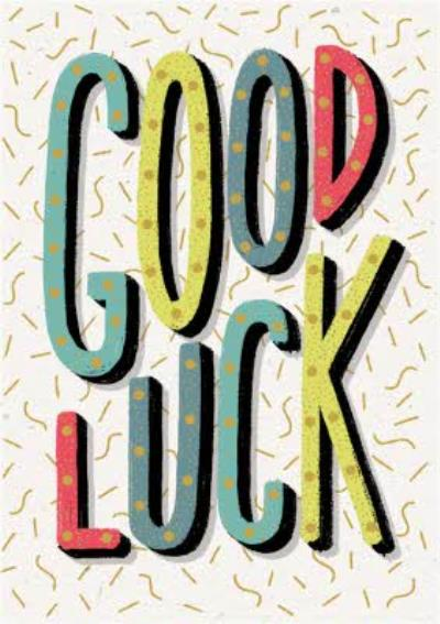 Modern Typographical Good Luck Card