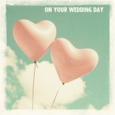 Pair Of Heart Balloons Personalised Wedding Day Balloon