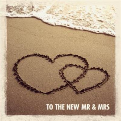 Hearts In The Sand Congrats To The New Couple Wedding Card