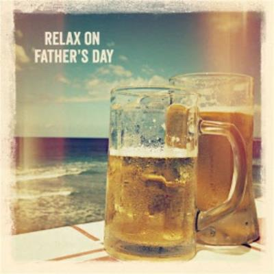 Beers By The Sea Personalised Happy Father's Day Card