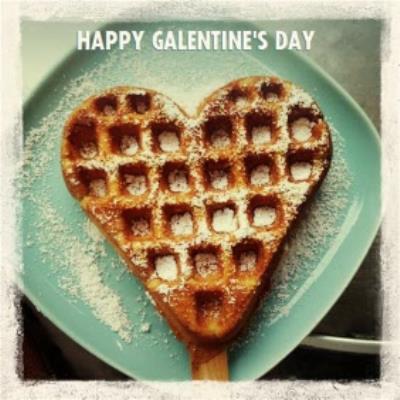 Heart Waffle Happy Galentine's Day