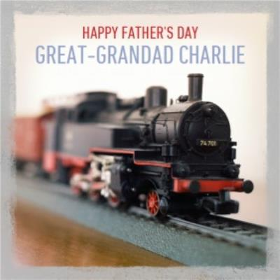 Personalised Happy Fathers Day Great Grandad Card