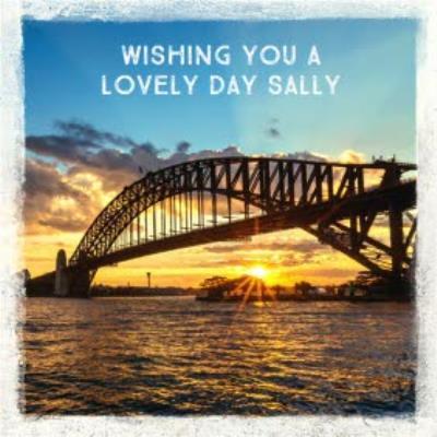 Sydney Harbour Bridge Sunset Personalised Happy Birthday Card