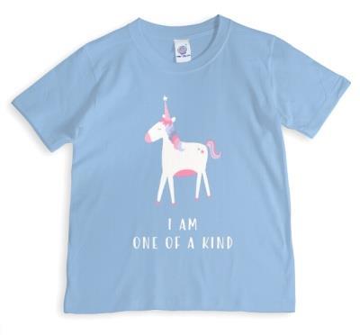 Unicorn I Am One Of A Kind Light Blue T-Shirt