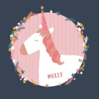 Rainbow Unicorn Personalised Name Card