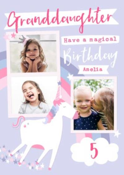 Have a magical Birthday - Unicorn - Photo Upload Card