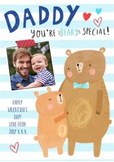 Cute Personalised Valentine's Day To My Daddy Photo Card