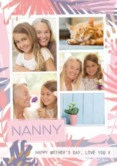 Pastel Tropical Print To My Nanny Personalised Mother's Day Card