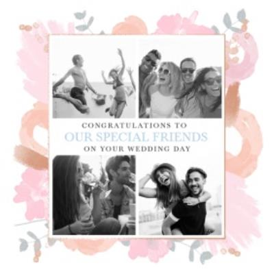 Wedding Card - Congratulations - Special Friends - On Your Wedding Day - Photo Upload