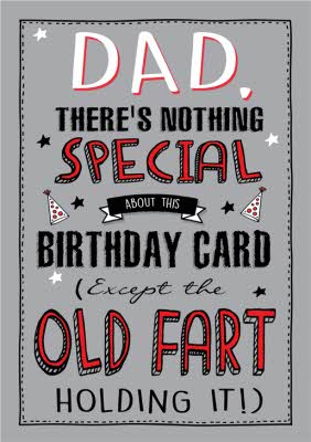 Funny Old Fart Birthday Card