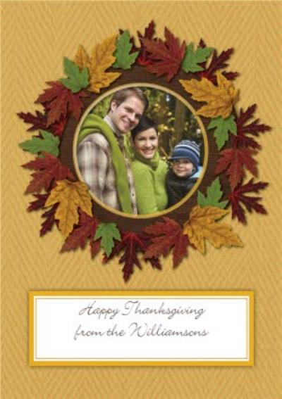 Photo Thanksgiving Card