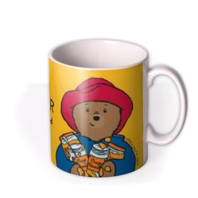 Paddington Bear Bright Yellow Personalised Name Mug
