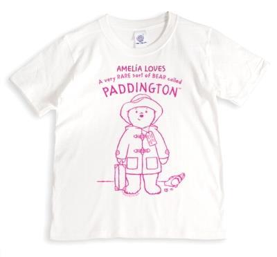 Paddington Bear Bright Pink Personalised Name T-Shirt