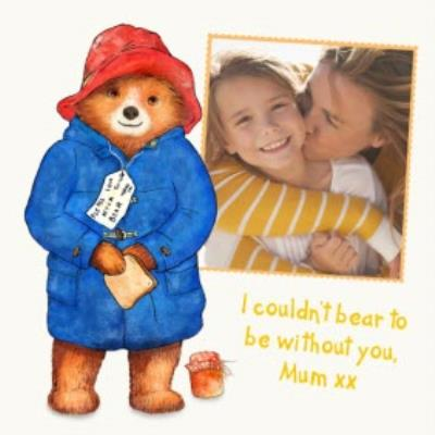 Mother's Day Card - Paddington Bear - photo upload card