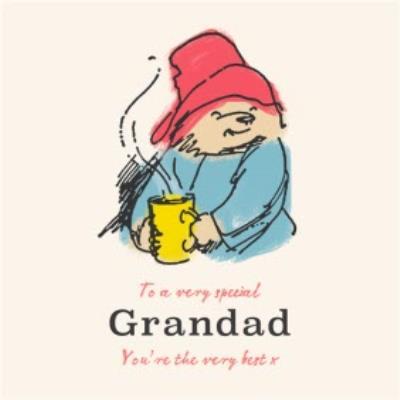Paddington Bear Father's Day Card for Grandad