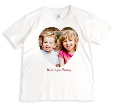 We Love You Mummy Heart-Shaped Photo White Shirt